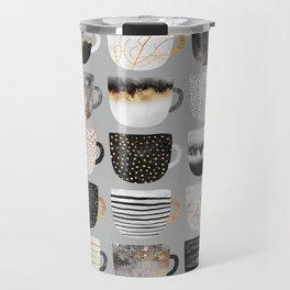 Pretty Coffe Cups 3 - Grey Travel Mug