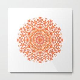 Mandala 12 / 5 eden spirit orange Metal Print