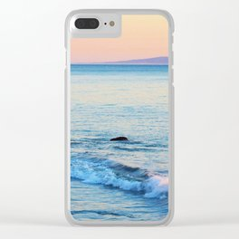 Sunset Surf Clear iPhone Case
