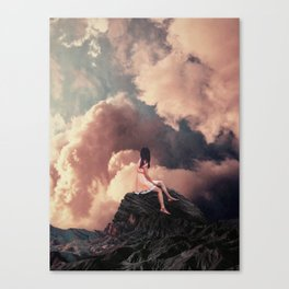 You came from the Clouds Canvas Print