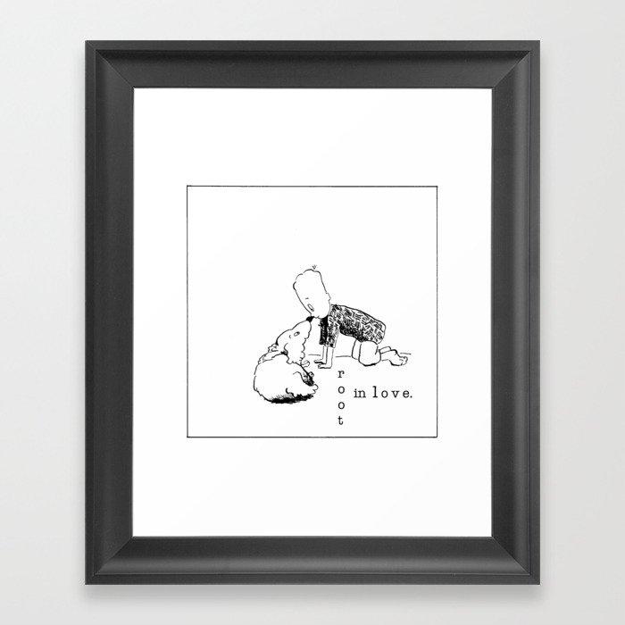 root in love Framed Art Print