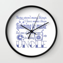 Listening to Music Uncle Wall Clock