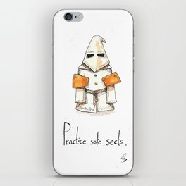 Practice Safe Sects iPhone Skin