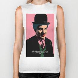 Charlie Chaplin Pop Art Style Picture Biker Tank