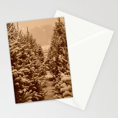 christmas trees past Stationery Cards