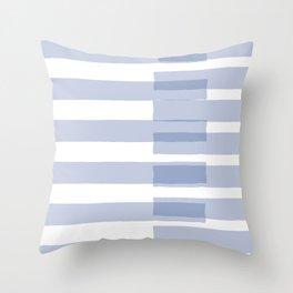 Big Stripes in Light Blue Throw Pillow