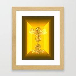 The gratitude plant Framed Art Print