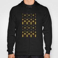 Geometric pattern brown and deep blue. Hoody