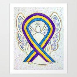 Bladder Cancer Awareness Ribbon Angel Art Painting Art Print