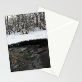 A stream of winter Stationery Cards
