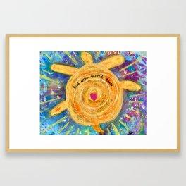 Trust Sacred Heart Framed Art Print
