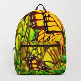 FANTASY YELLOW MONARCH BUTTERFLY LIME COLOR Backpack