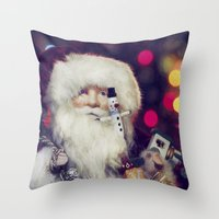 santa Throw Pillows featuring Santa by ThePhotoGuyDarren