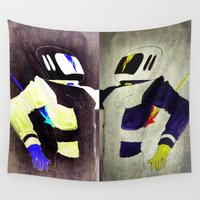 spaceman Wall Tapestries featuring Death of a Spaceman by BruceStanfieldArtistPainter