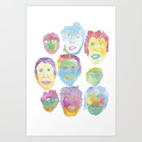 talking heads Art Prints featuring Talking Heads by pommagranny