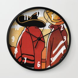 Mexico - Vintage Travel Poster Wall Clock