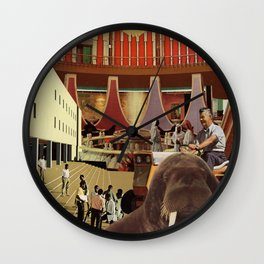 On Campus Accommodation Wall Clock