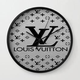 LV Pattern Wall Clock