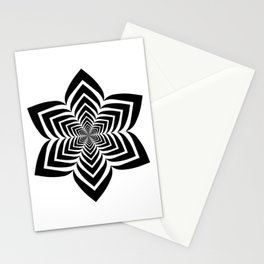 Geometric flower optical illusion Stationery Cards