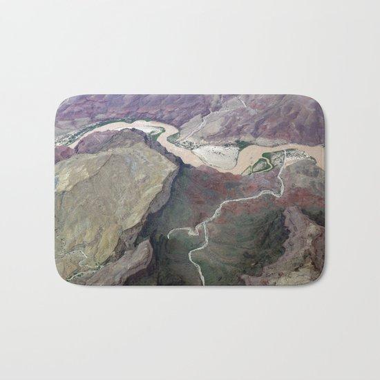 Grand Canyon bird's eye view #1 Bath Mat