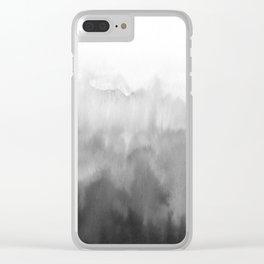 Black gradient Clear iPhone Case