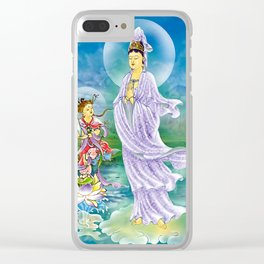 Joining Palms Kuan Yin Clear iPhone Case