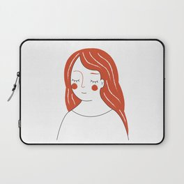 Red Haired Woman Laptop Sleeve