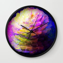 Sculpted Miniature Floral Wall Clock