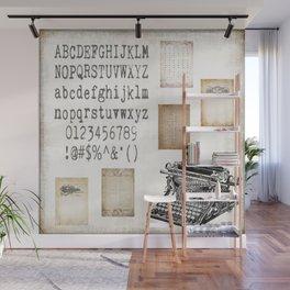 Vintage Office - Writers Block Wall Mural