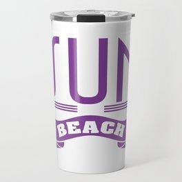 Violet Sun of a Beach T-shirt Design Humor Vacay Sea Surf Swimming Tan Sand Sunlight Relax Swim Travel Mug