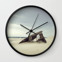 wreck it ralph Wall Clocks featuring wreck by Andrzej Siejeński