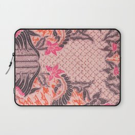 Bali Batik pink orange Laptop Sleeve