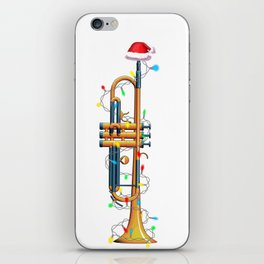 Christmas Trumpet Xmas Musician Gift Idea iPhone Skin