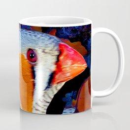 Zebra Finch Painted Coffee Mug