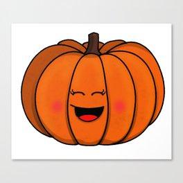 The happy pumpkin Canvas Print