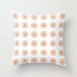 Daisies [Off White] Throw Pillow