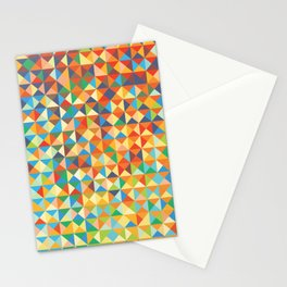 Triangles & Colors Stationery Cards