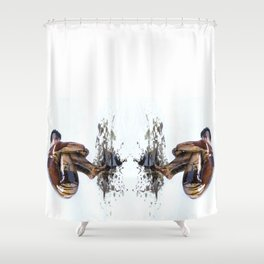 Marble Oil Shower Curtain