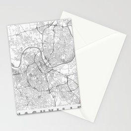 Nashville Map Line Stationery Cards