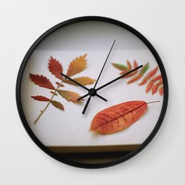 Herbarium Wall Clock