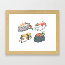 Sushi Cats Framed Art Print