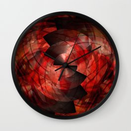 Metalabstract Swirl Wall Clock