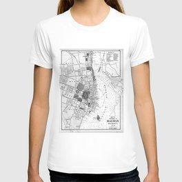Vintage Map of Halifax Nova Scotia (1878) BW T-shirt
