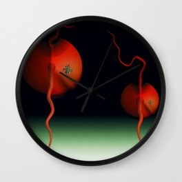 Father and son - Alien version Wall Clock