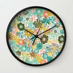 February Floral Wall Clock
