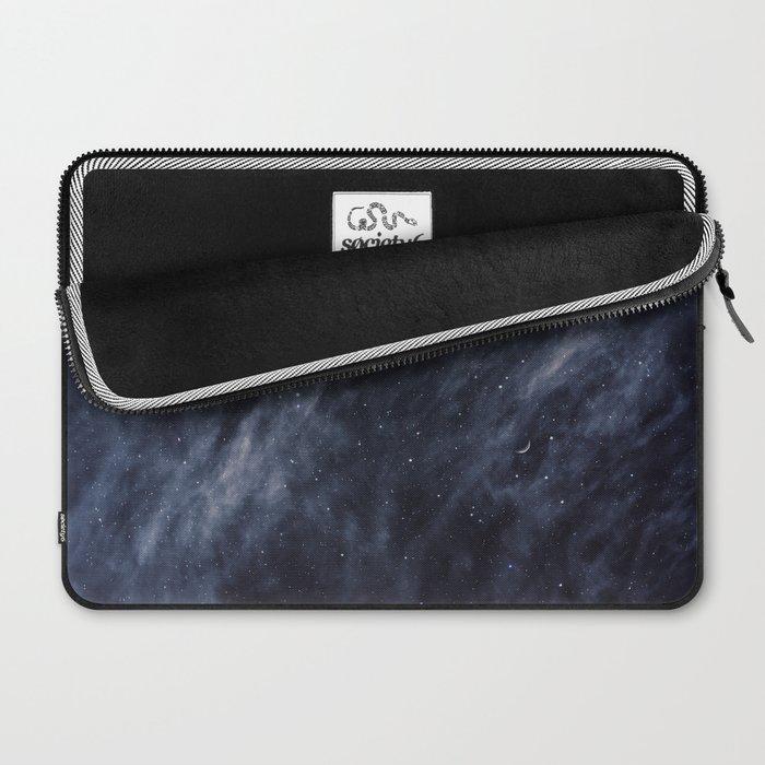 Blue Clouds, Blue Moon Laptop Sleeve