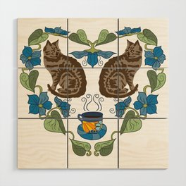 Coffee and Cats Wood Wall Art
