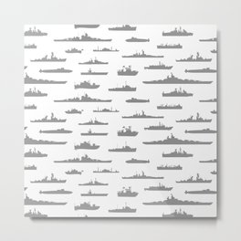 Battleship // Grey Metal Print