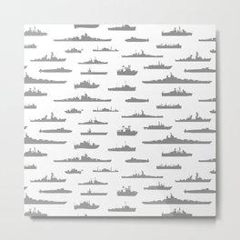 Battleship // Grey Metal Print
