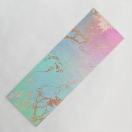 Rainbow Glamour Marble Texture Yoga Mat